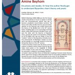 Public presentation of Amine Beyhom's book on Byzantine chant - Orient Institut Beirut - 16th February 2016